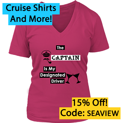 Cruise tee shirt - captain is my designated driver