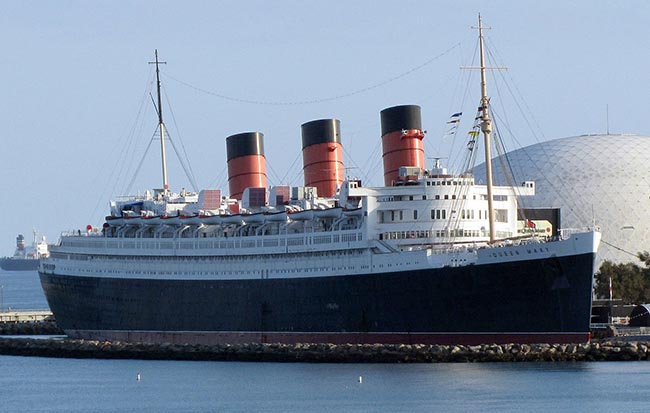 The Queen Mary as She Sits Today, a Hotel and Museum in Long Beach, CA - photo by Altair78