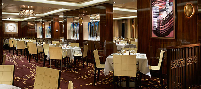 The Taste Dining Room - One of Three Main Dining Rooms on Norwegian Escape