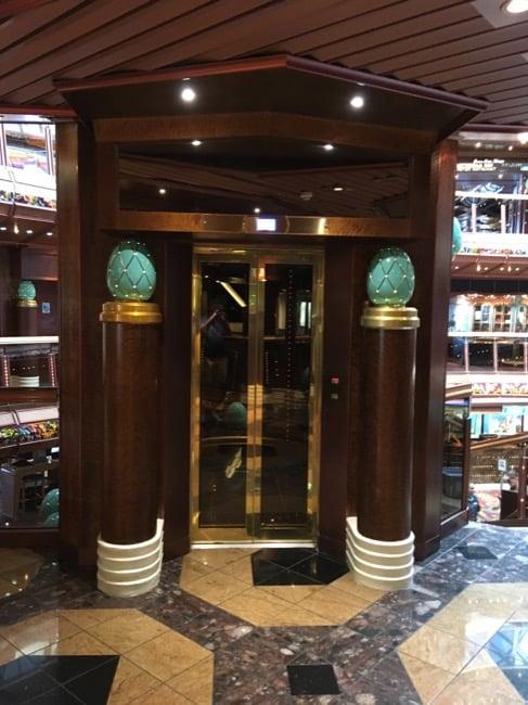 Carnival Paradise Atrium Elevator