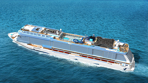 Norwegian Bliss from above