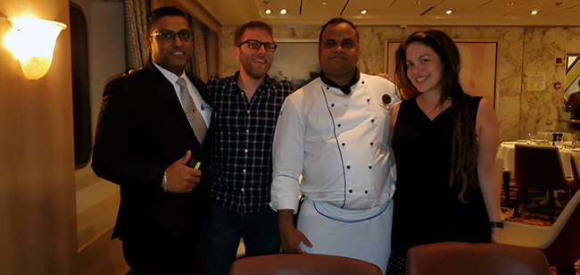 BoscoVaz (Assistant Maitre d'), and Chef Nelson Fernandes