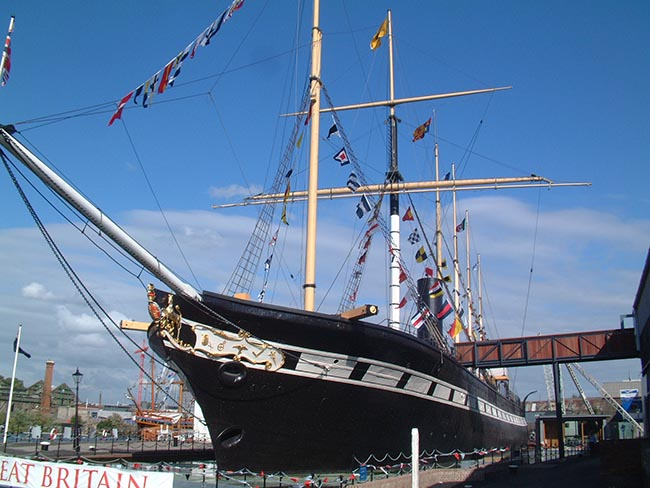 The SS Great Britain in Bristol, England - Photo by Mattbuck