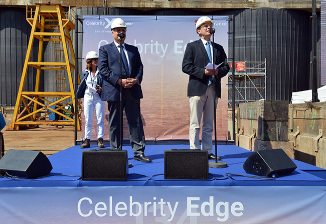 Celebrity Edge Keel Laying