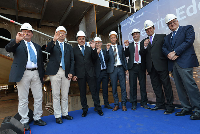 Celebrity Edge Keel Laying Group Photo