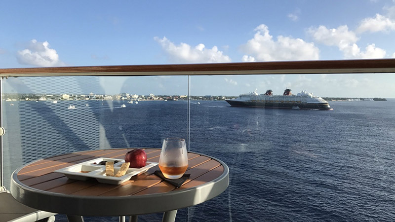 DCL ship from balcony on Celebrity Reflection