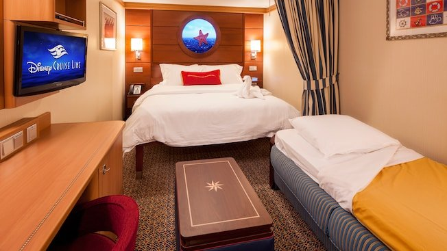 an inside room on a DCL ship