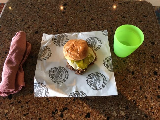 Carnival Paradise Guy's Burger Joint Burger