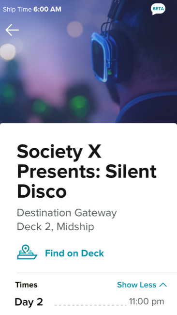 Celebrity Edge Society X Presents: Silent Disco