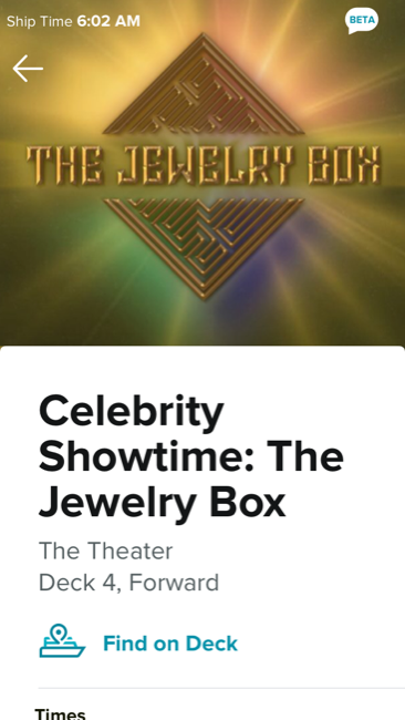 Celebrity Edge The Jewelry Box