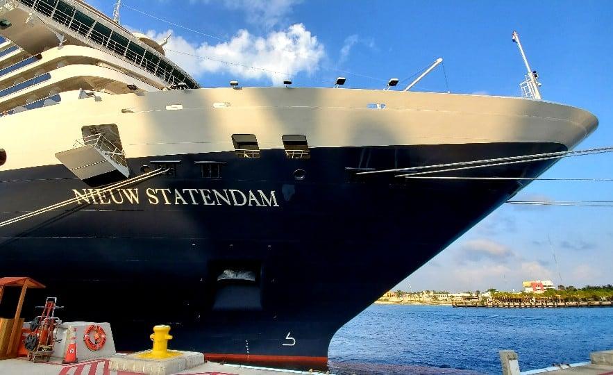 Holland America Line's Nieuw Statendam Docked in Cozumel