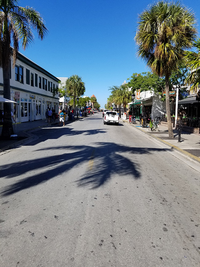 no sign of damage in Key West