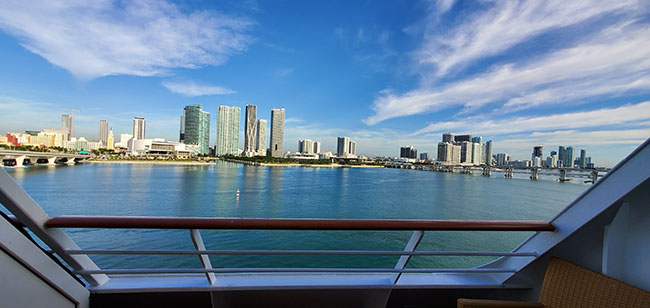 Miami's Beutiful Skyline - A Sad Sight from Our Verandah on Disembarkation Morning