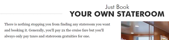 Even NCL admits on their website that these solo rates aren't the norm