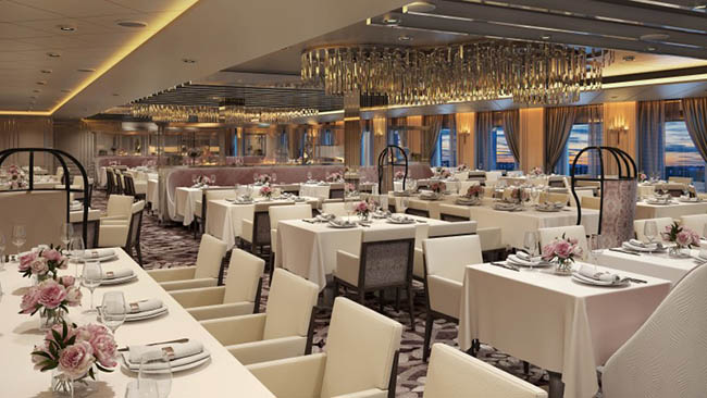 Dining on the Edge Multiple Complimentary Dining Rooms Innovative
