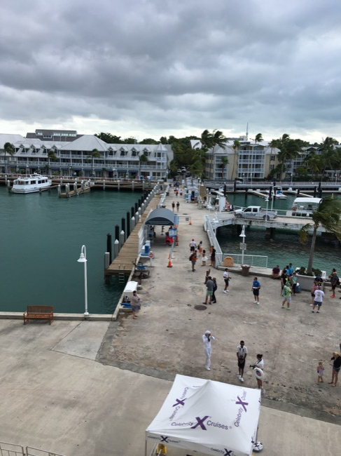 Celebrity Infinity Key West Walkway into Mallory Square