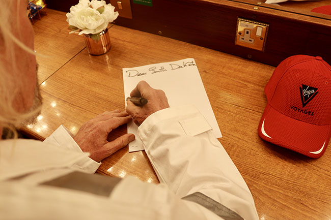 Richard Branson Writing Letter to South Dakota