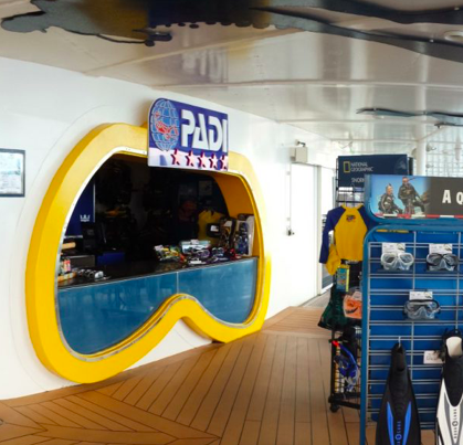 Royal Caribbean PADI scuba diving dive shop