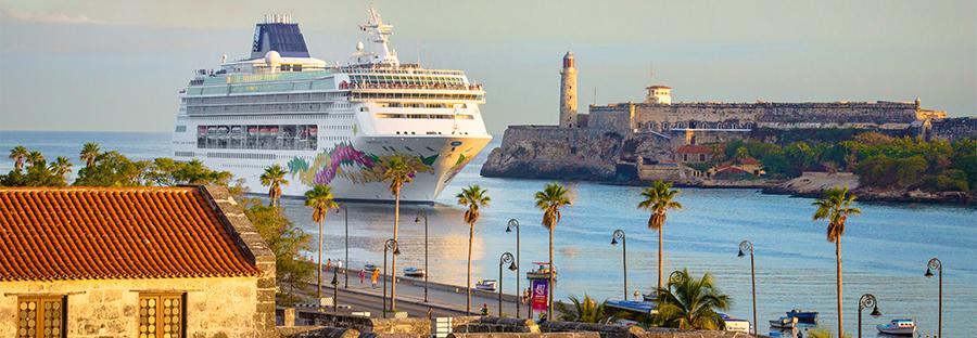 Norwegian Sky in Havana Harbor