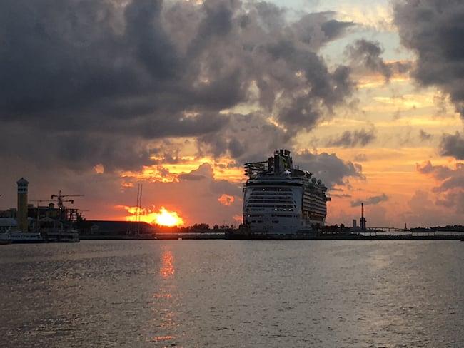 Mariner of the Seas sunset