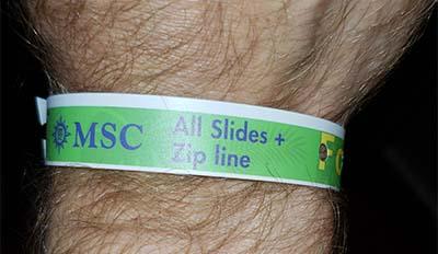 Aquaventure Zip Line Wristband