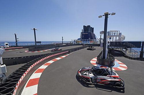 Race track on Norwegian Bliss