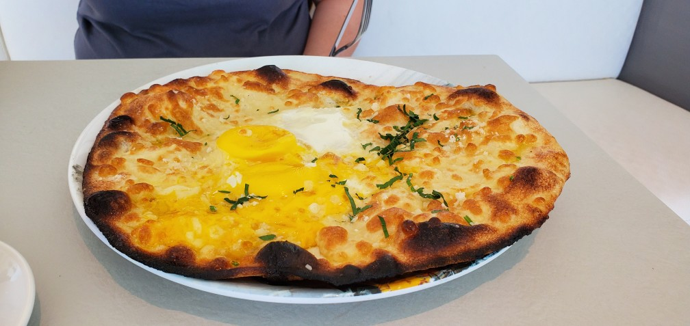 Egg Pizza at New York Deli & Pizza on Nieuw Statendam