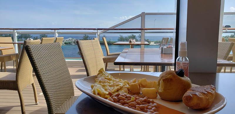 Breakfast in Nassau on MSC Seaside
