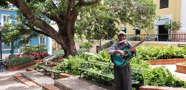 Old San Juan has a number of talented buskers
