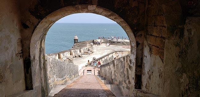 Steep Cannon Ramp at El Morro in Old San Juan
