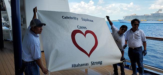 Celebrity Equinox Cars - #BahamasStrong Sign