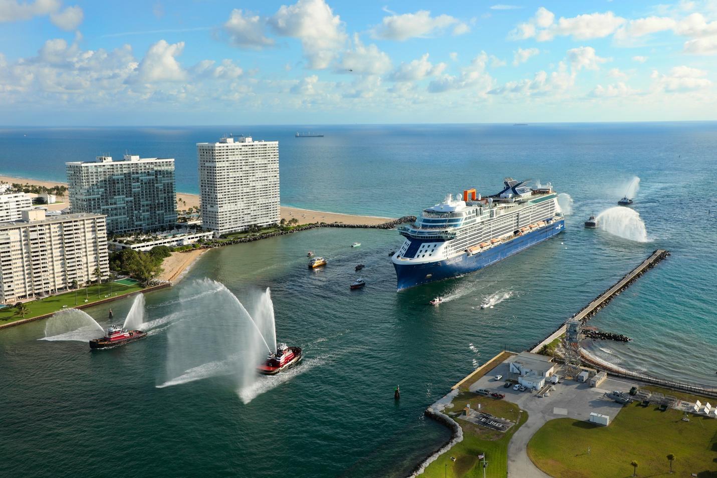 Celebrity Edge Arriving at Port Everglades