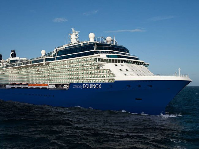 Celebrity Equinox Showing Off Her New Livery