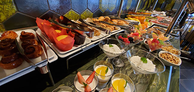 Cold Breakfast Buffet at Cagney's Steakhouse on Norwegian Sky