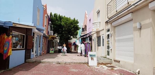 Colorful buildings in Sint Maarten