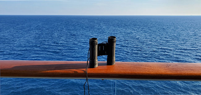 Binoculars on Balcony of Celebrity Equinox
