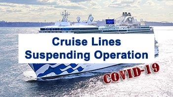 Cruise Lines Suspending Operation Due to Coronavirus