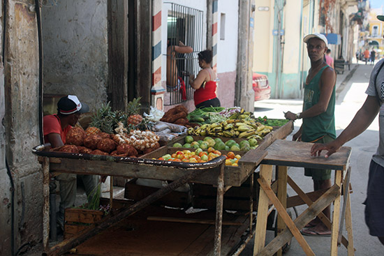 Cubans at a Fruit Stand