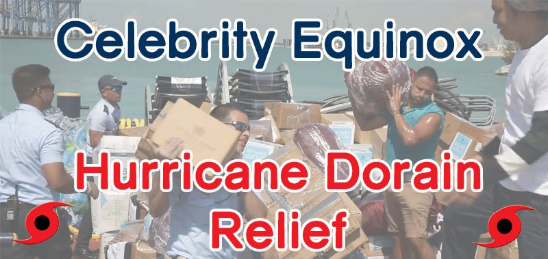 Celebrity Equinox Hurricane Dorian Relief Efforts