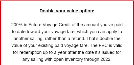 Virgin Voyages Double Your Value Offer