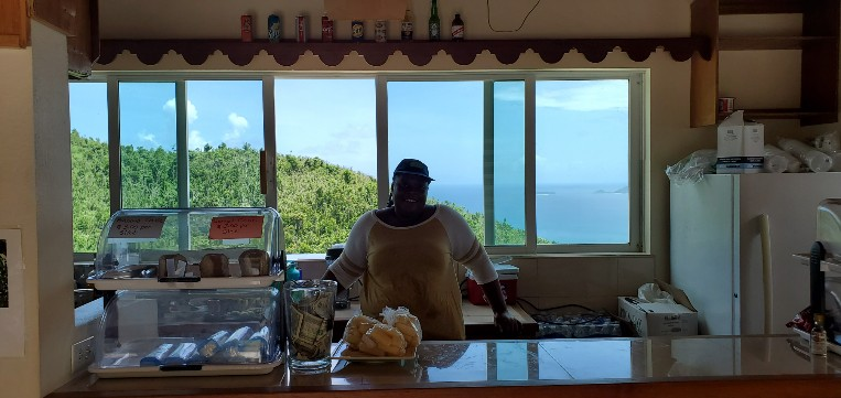 Water, beer, snacks?  Nice office view in Tortola.