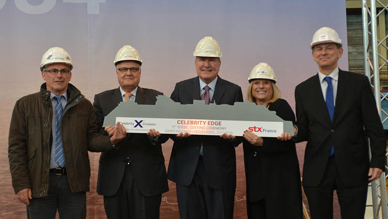 Celebrity & STX Team At Edge's Steel Cutting