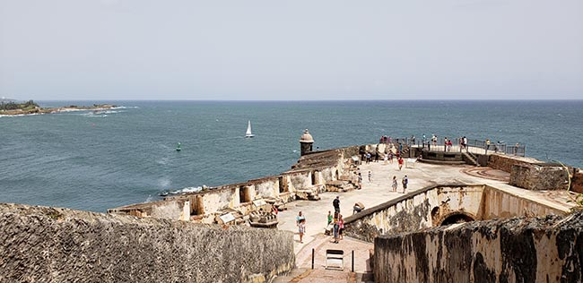 One Section of El Morro from the Top Deck