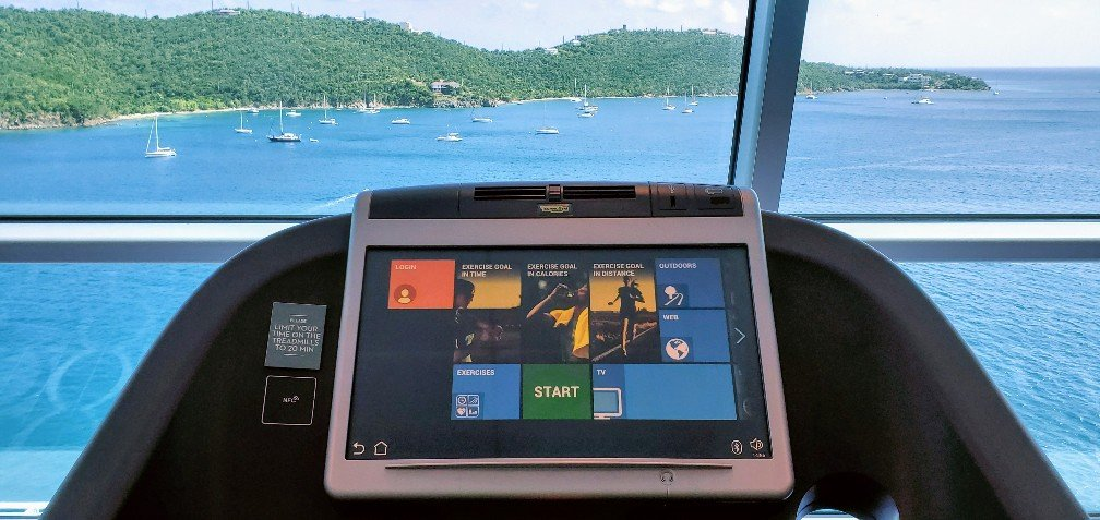 Staying Fit on a Fancy Treadmill on Celebrity Equinox