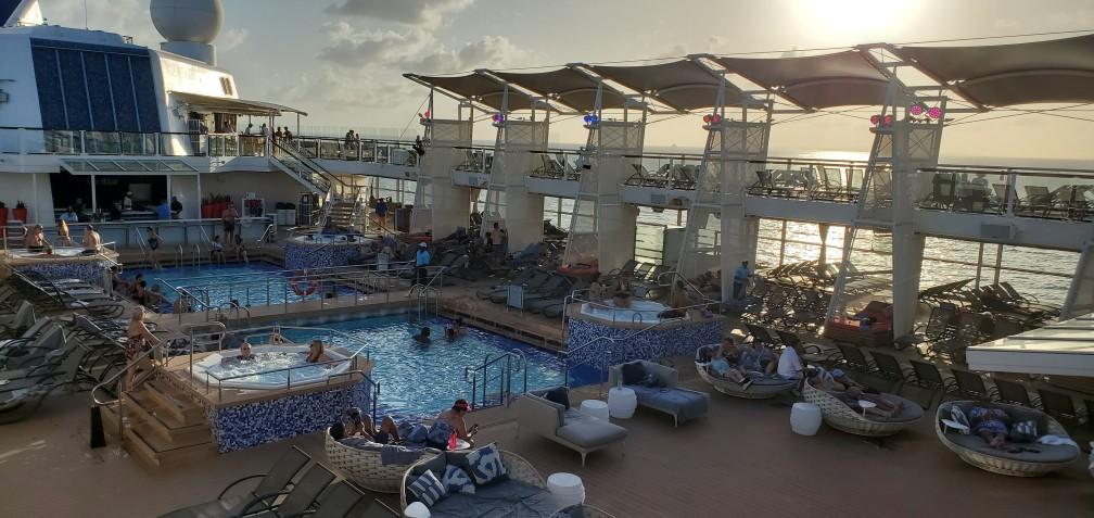 Equinox Pool Deck at Sunset