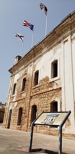 Flags at Fort San Cristobol in Old San Juan