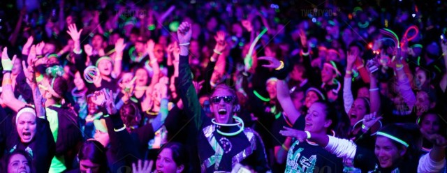 This is a view of everyone cheering me on at the glow party.  Maybe.  Not really.