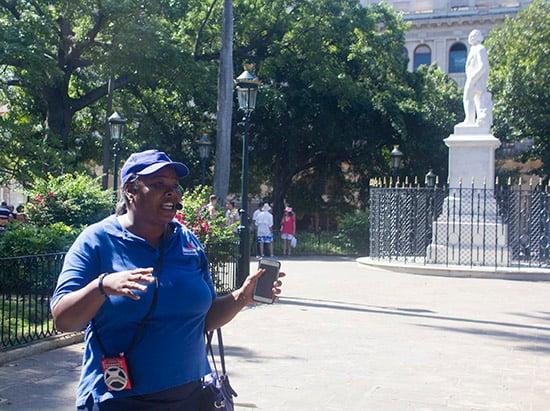 Tour guide in Havana, Cuba