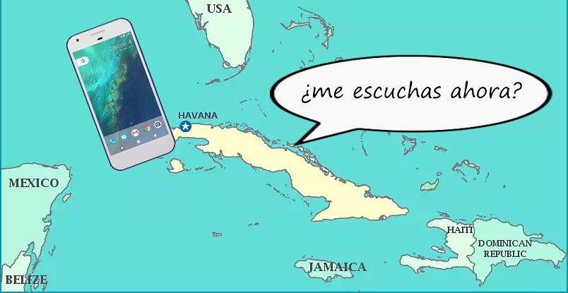 Puedes escucharme ahora? Cell phone and internet access in Cuba