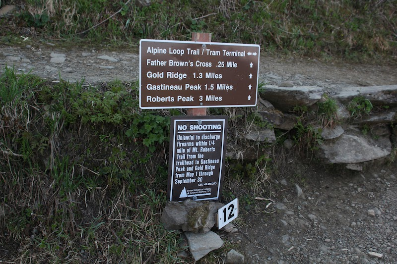 Mount Roberts Hiking Trail Signage